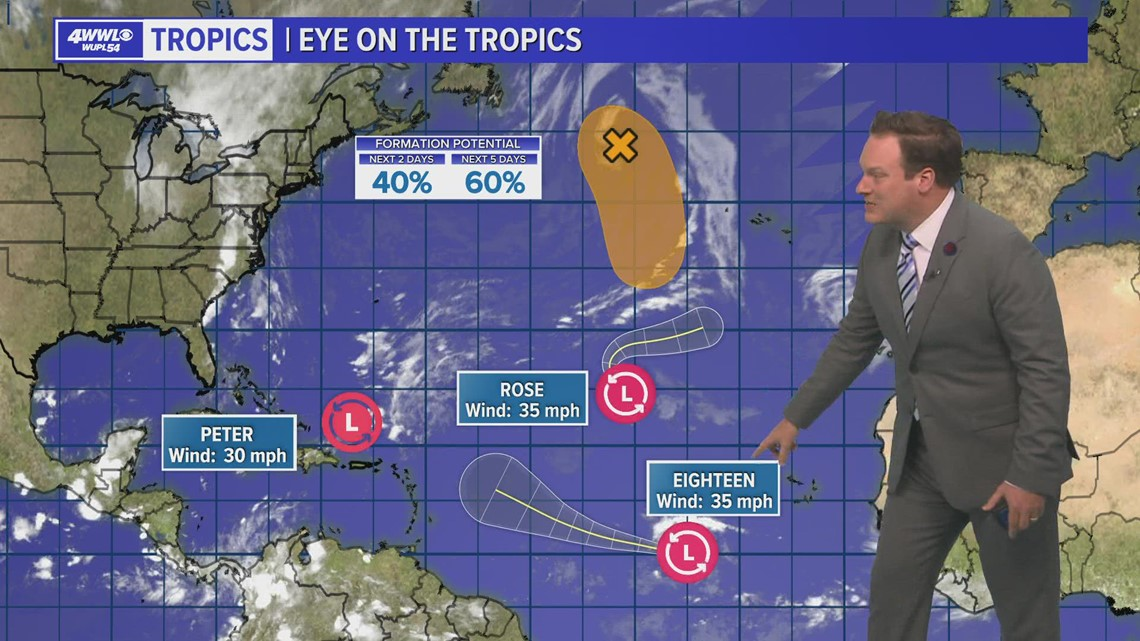Wednesday 10 PM Tropical Update: Tropical Depression 18 could become named storm