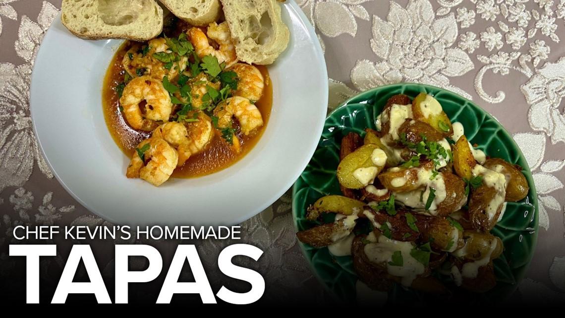Recipe: Spanish Shrimp Tapas & Patatas Bravas with Garlic Aioli
