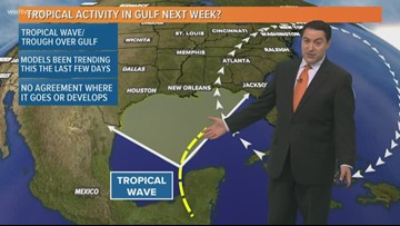 Models hint at possible tropical activity in Gulf next week