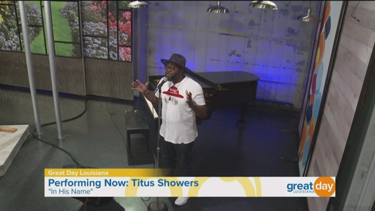 Titus Showers performs