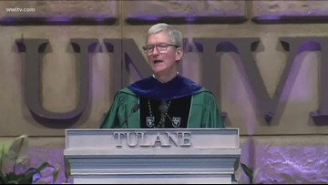 Apple CEO Tim Cook calls out climate change in Tulane University graduation speaker