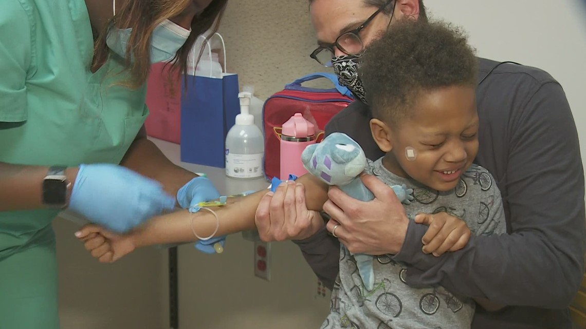Young children receiving COVID vaccines during trial in New Orleans