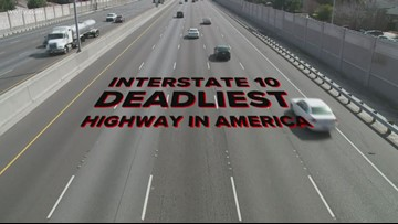 I-10 most deadly highway in U.S. for holiday travel, study shows