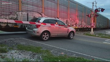 Another train-car collision on Metairie Road