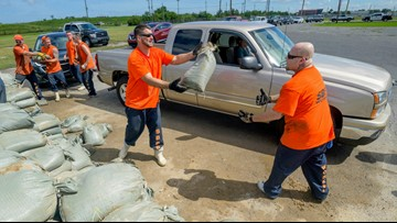 Barry's outer bands begin lashing southeastern Louisiana