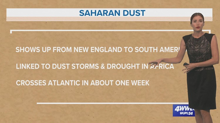 Mainly quiet in the Atlantic as dusty air dominates