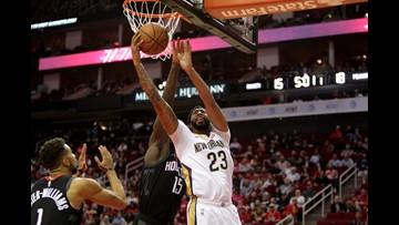 Davis, Mirotic lead Pelicans past Rockets 131-112