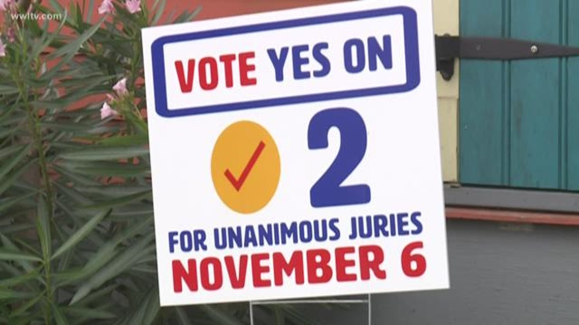 Amendment No. 2 passes, Louisiana voters strike down non-unanimous jury law