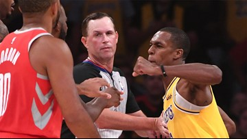 Rondo, CP3 lead wild brawl between Lakers and Rockets