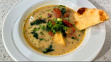 Recipe: Sausage, Spinach, Potato Cold Weather Soup