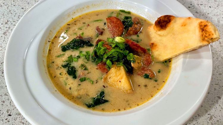 Recipe: Sausage, Spinach, Potato Cold Weather Soup