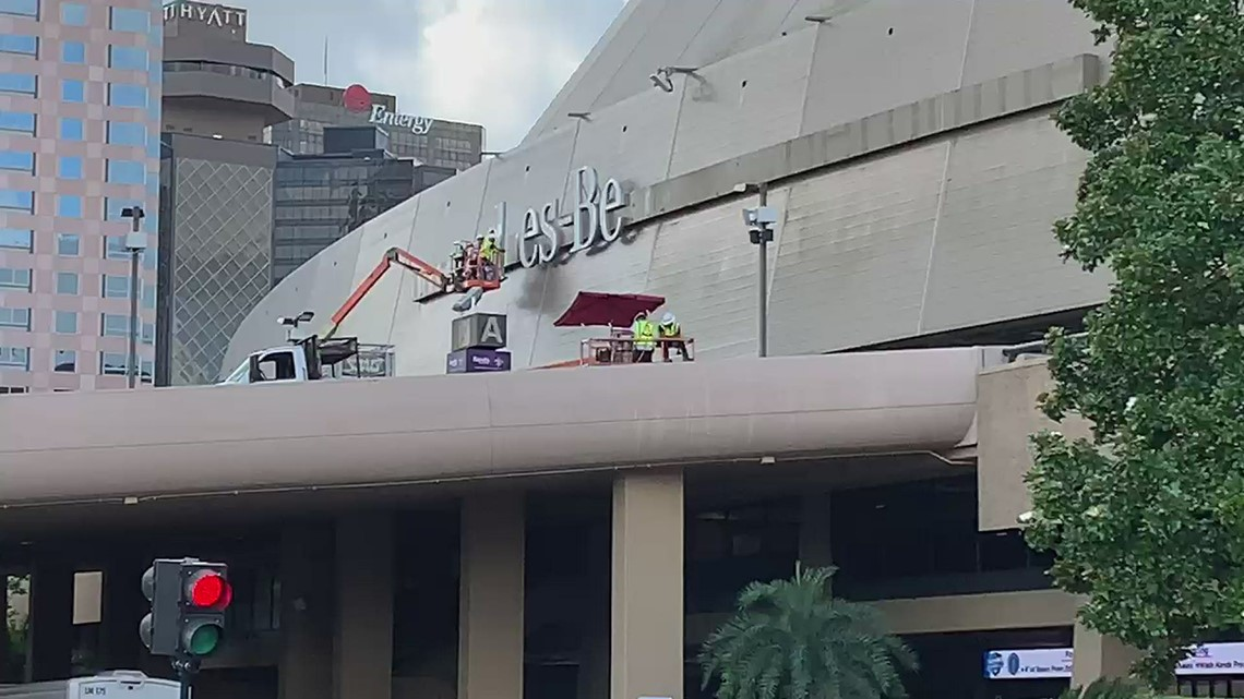 Mercedes-Benz name, logo removed from Superdome