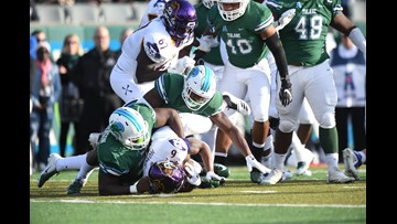 Mooney helps Tulane to 3rd straight win, beating E. Carolina