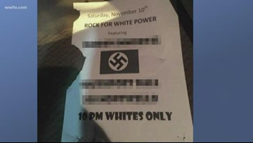 Venue, band condemn flyers promoting 'Whites only' event posted in Jefferson Parish