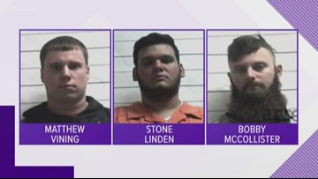 Three men accused of racially motivated Marigny attack surrender to police