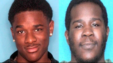 Two men arrested after woman robbed at gunpoint on her front porch