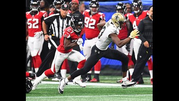 Saints are 13-point favorites over Falcons
