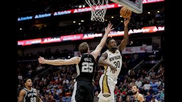 Davis, Randle lead Pelicans past Spurs, 140-126