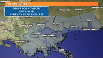 Dense fog advisory for Southeast Louisiana canceled