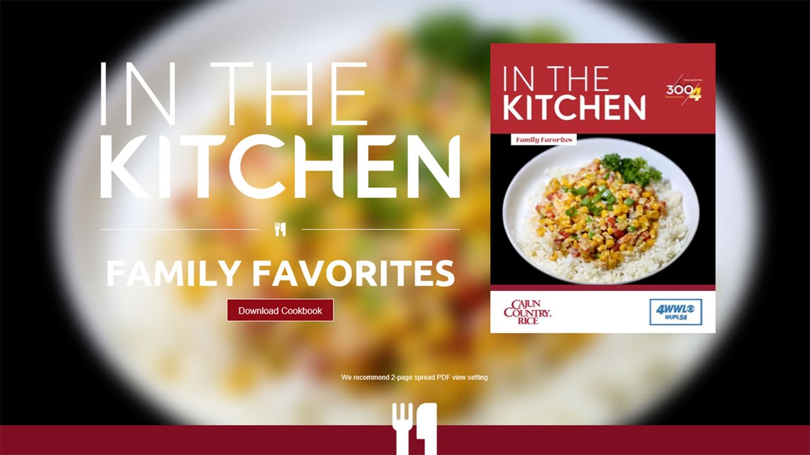 Download the free WWL-TV Family Favorites cookbook