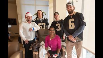 Photos: Saints players visit patients at Ochsner Hospital