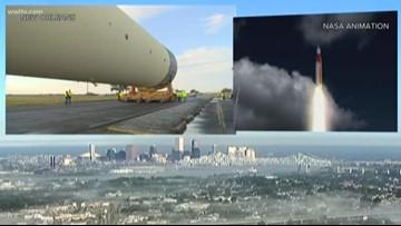NASA's largest rocket fuel tank leaves New Orleans for Alabama