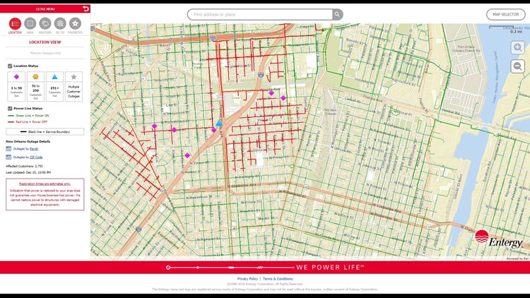 Entergy Power Restored To 2700 In St Roch Area Wwltv Com