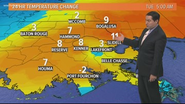 Pinpoint Forecast: Rain Ends With Cooler Temps. Today