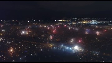 WATCH: New Orleans lights up at midnight on New Year's Eve