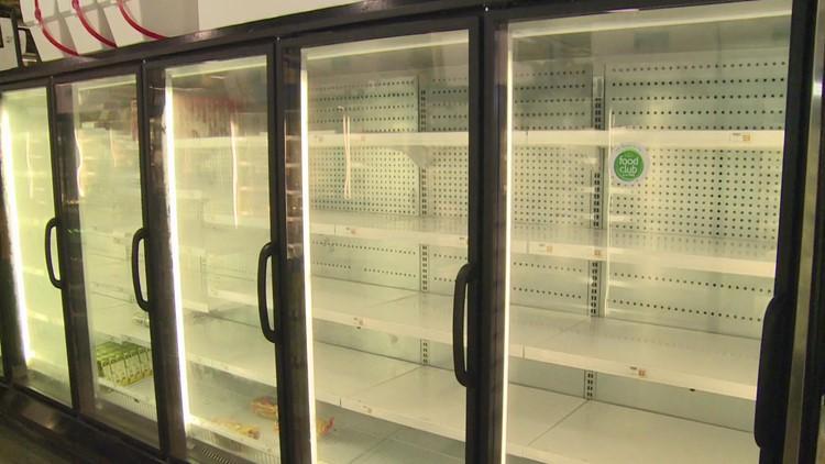 Grocery store shelves bare across New Orleans