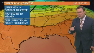 Weather Expert Forecast: The heat continues, but a cold front on the way!