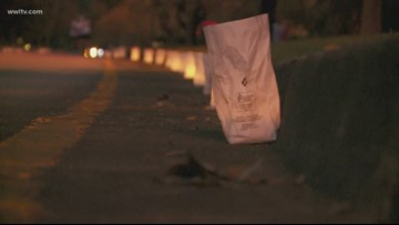 Thousands of luminaries light up Mandeville street in honor of captain Vincent Liberto