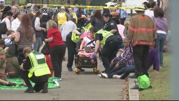 First responders train in simulated attack on Mardi Gras parade