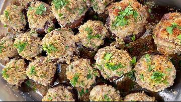 Recipe: Cheesy Sausage Mushrooms
