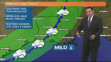 Pinpoint Forecast: Rain Returns Tonight, Cooler Tomorrow