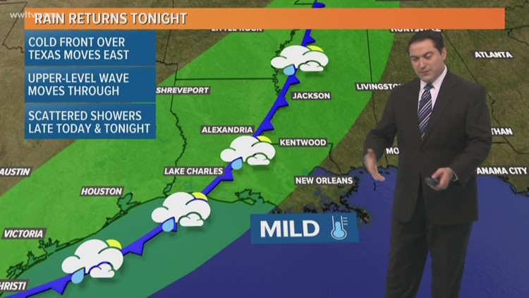 Pinpoint Forecast: Rain Returns Tonight, Cooler Tomorrow