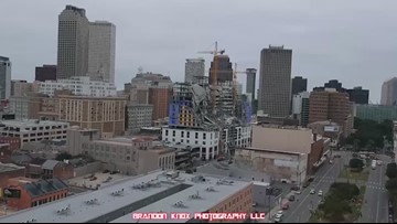 Videos from drones, eyewitnesses capture the destruction from New Orleans hotel collapse