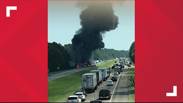 Two dead after fiery big-rig crash on I-12 near Springfield exit