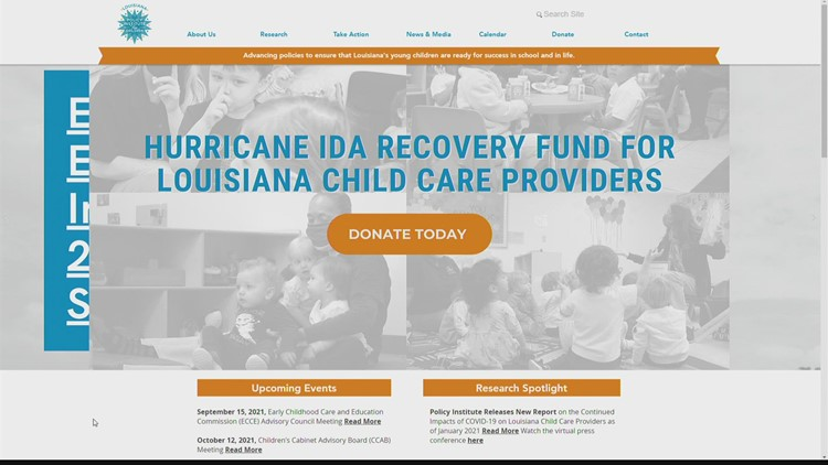 Local organizations working to ensure childcare providers are available post-Hurricane Ida