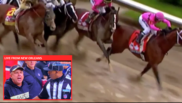 VINDICATION! Saints fans see parallels between Kentucky Derby DQ and L.A. Rams loss