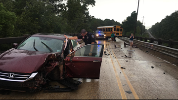 Police: Suspected impaired driver crashes into Slidell school bus