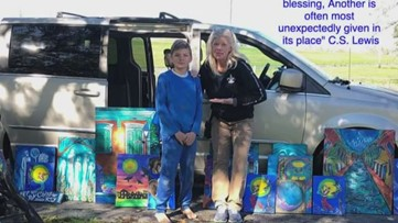 13-year-old finds Jackson Square artist's work along Mississippi