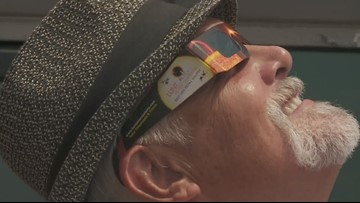 Residents gather at Ogden Museum to watch eclipse