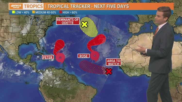 Tuesday AM Tropical Update: Invest 98-L's early paths curve back to Atlantic