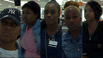Group wanted for stealing $5,000 in perfume, pepper spraying mall security, JPSO says