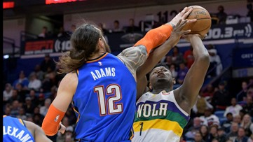 Thunder finish season sweep of Pelicans with 123-118 win