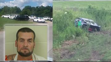 Escaped inmate steals race car, crashes, runs into woods before being caught in Belle Chasse
