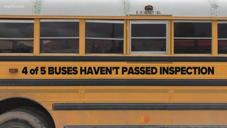 Nearly 100 N.O. school buses have failed inspection; hundreds more haven't been looked at