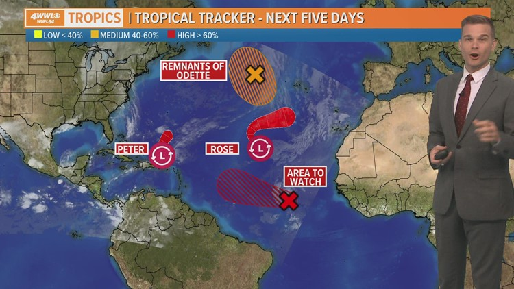 Wednesday AM Tropical Update: Sam likely to form, 4 Atlantic systems in play