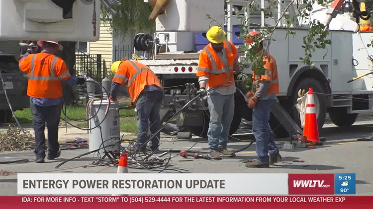 Entergy power restoration update
